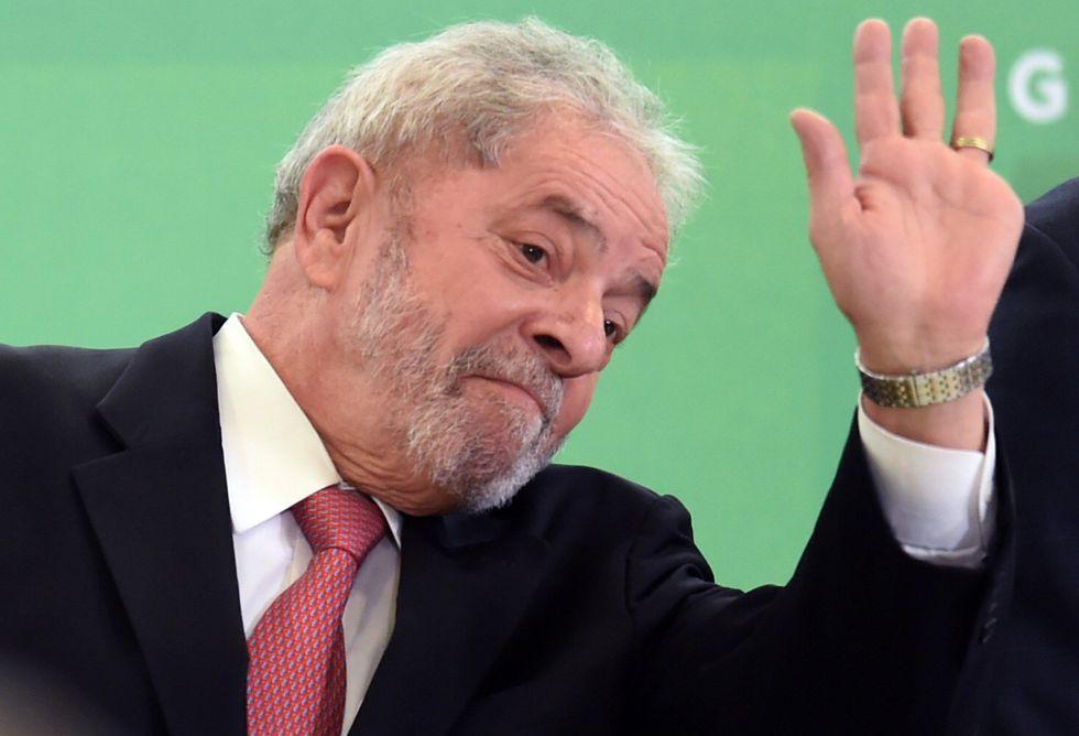 Lula em Brasília na quinta-feira, 17 de março.