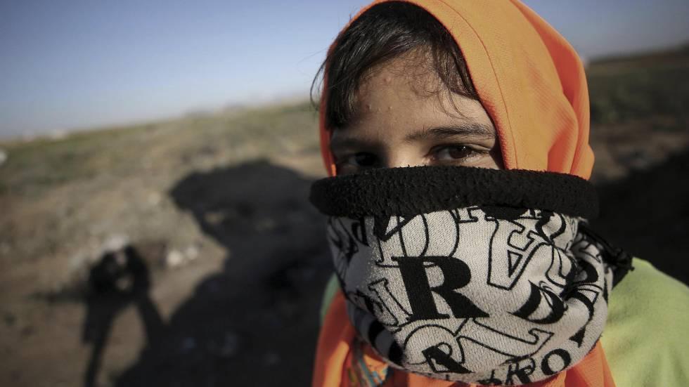 Protesto contra o bloqueio de Jabaliya, norte da Faixa de Gaza.