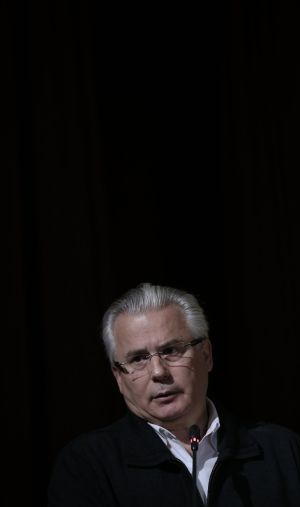 Baltasar Garzón, pictured at Sunday's event in Madrid organized by the Platform for a Truth Commission.