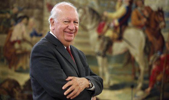 Ricardo Lagos ex-presidente do Chile no Centro de Estudos Constitucionais de Madri.