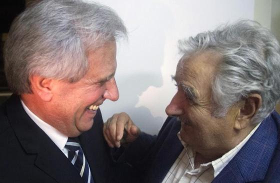 Tabaré Váquez (75 anos) e José Mujica (80 anos).