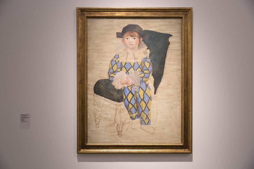 """A obra """"Paul como Arlequim"""", exposta no Instituto Tomie Ohtake."""