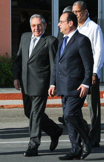 Raul Castro e François Hollande, em maio em Havana.