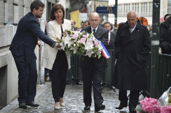 Cerimônia em memória às vítimas do atentado de Bruxelas.