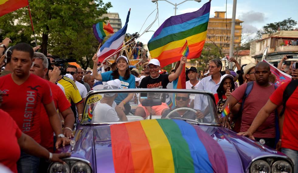 Mariela Castro durante a parada do Orgulho Gay em Havana, em 12 de maio.