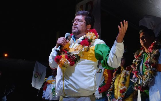 Samuel Doria Medina, em um ato em La Paz.