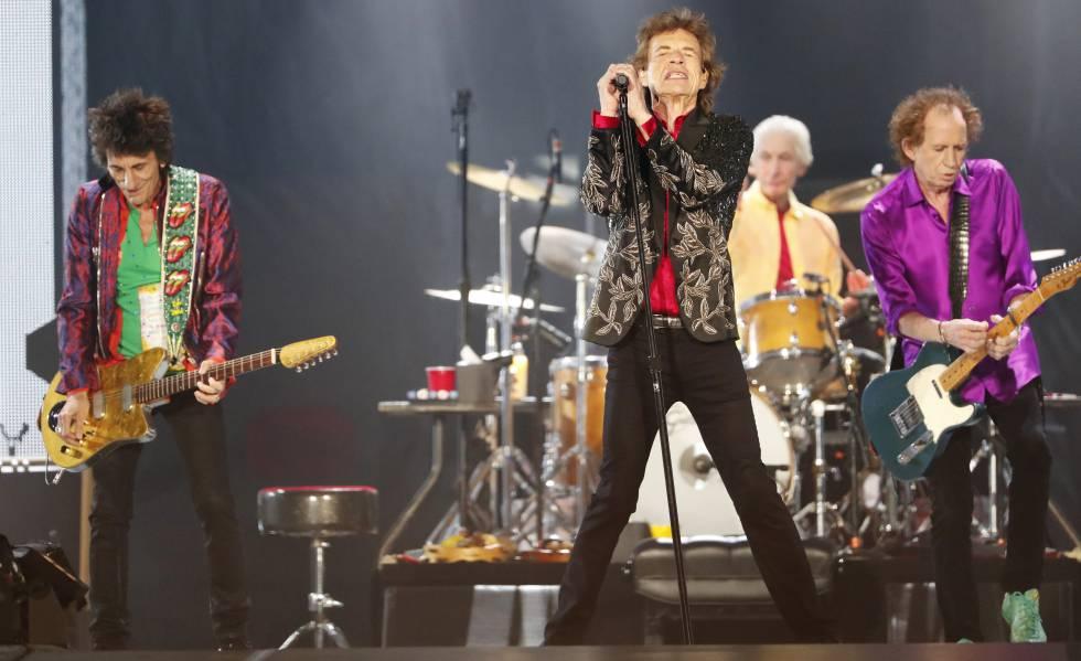 Os Rolling Stones no Arizona (EUA), em agosto.
