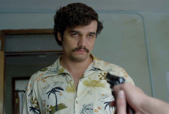Wagner Moura como Pablo Escobar, em 'Narcos'.