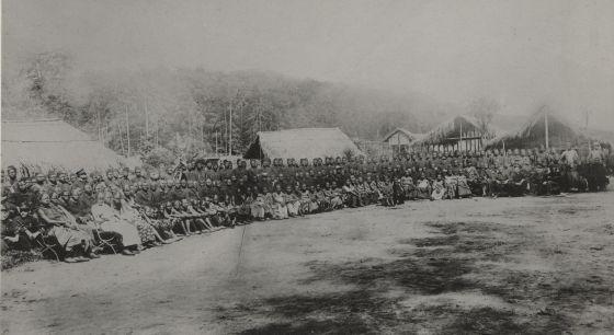 Congoleses durante a Exposição Universal de Bruxelas em 1897.