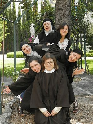 One of the photographs that the Discalced Carmelites from Valladolid show on their website.