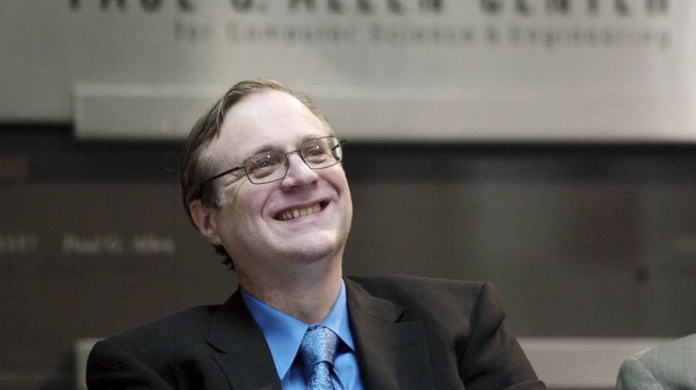 Paul Allen, em 2003, no centro de Ciências de Computação que leva seu nome na Universidade de Washington, em Seattle