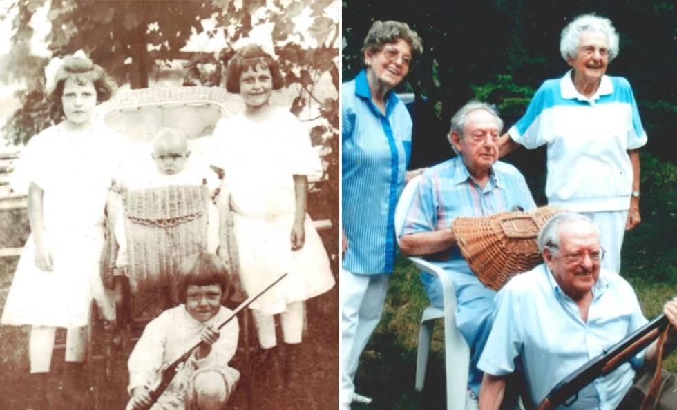Os irmãos Kahn na década de 1910 e no ano 2000.