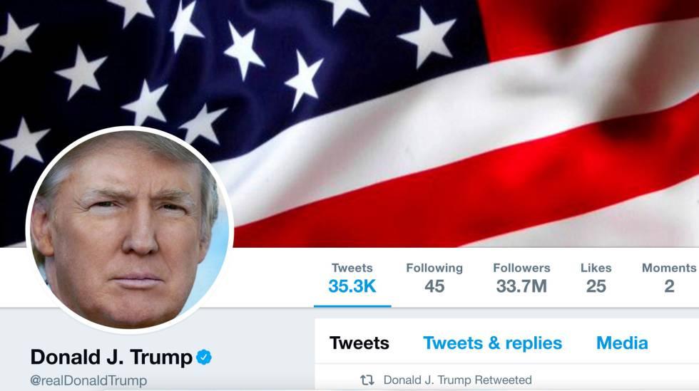 @realDonaldTrump sumiu da internet