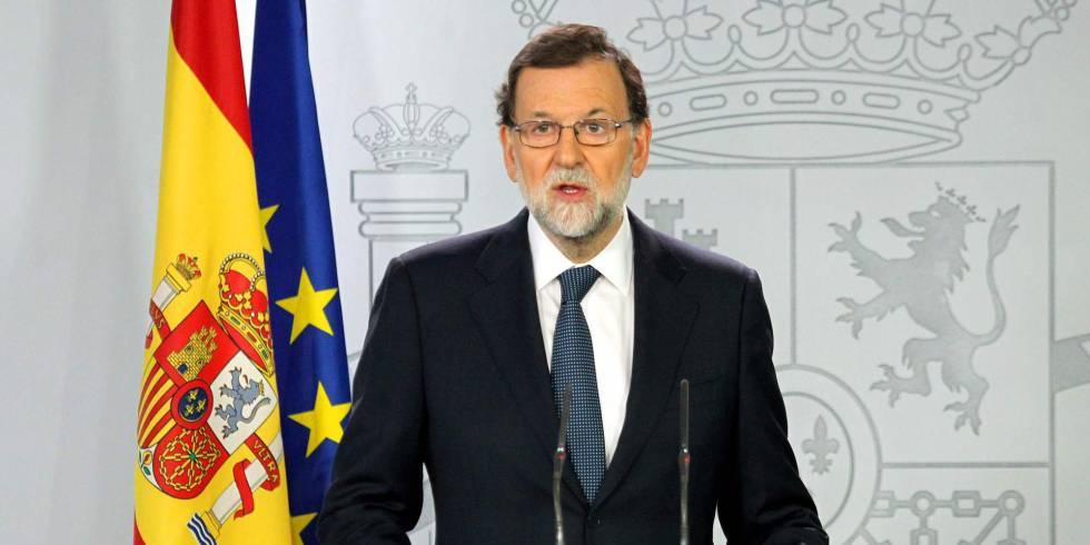 Mariano Rajoy em sua fala desta quarta.