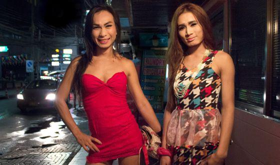 Transexuais de Bancoc (Tailândia).