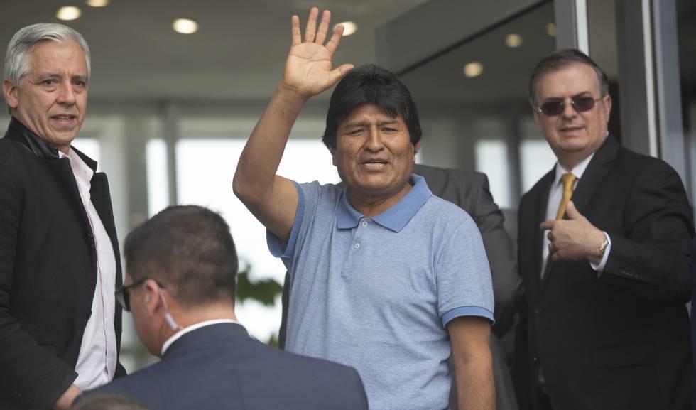 Evo Morales, após a chegada ao México, em 12 de novembro.