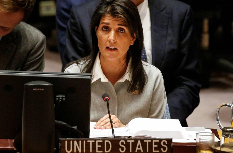 Embaixadora dos EUA na ONU, Nikki Haley.