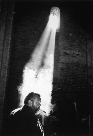 Orson Welles em uma imagem da exposição de fotografias de Magnum 'A paixão pelo cinema', em Lisboa em 2001.