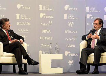 """O presidente da Colômbia conversa com Juan Luis Cebrián sobre os benefícios da paz no país  """"Colômbia será um país para viver sem medo"""""""