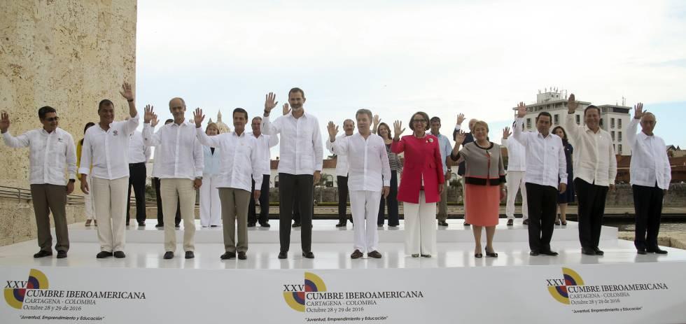 Chefes de Estado que participaram da cúpula