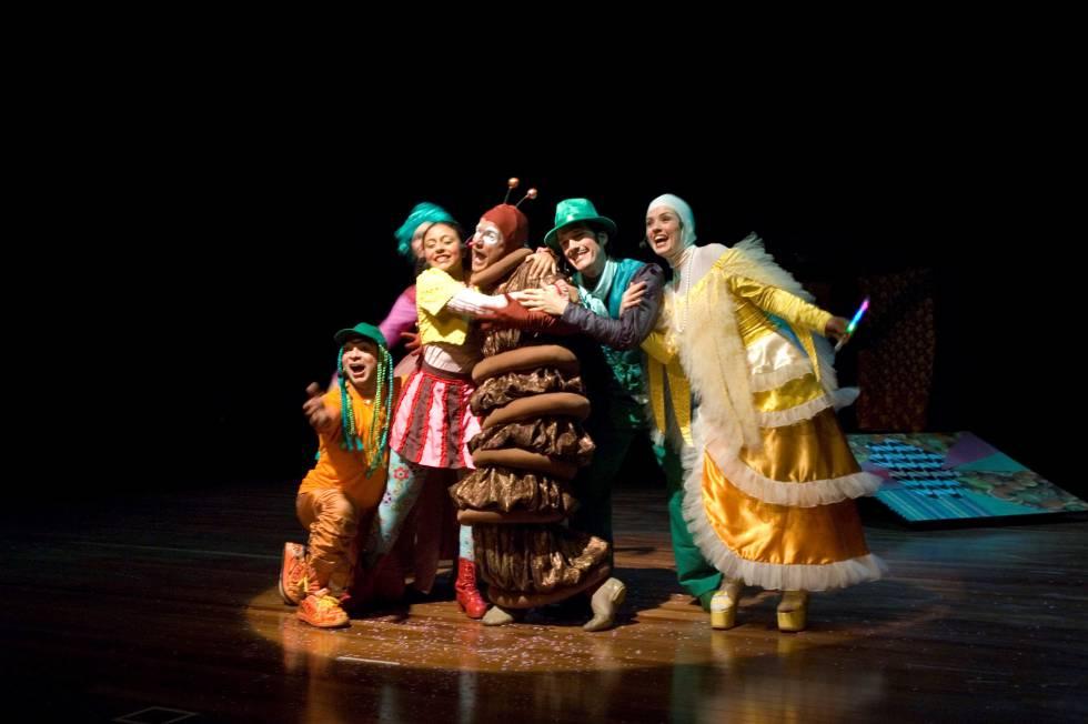 O musical infantil 'O Canto das Vitaminas', financiado com recursos da Lei Rouanet.