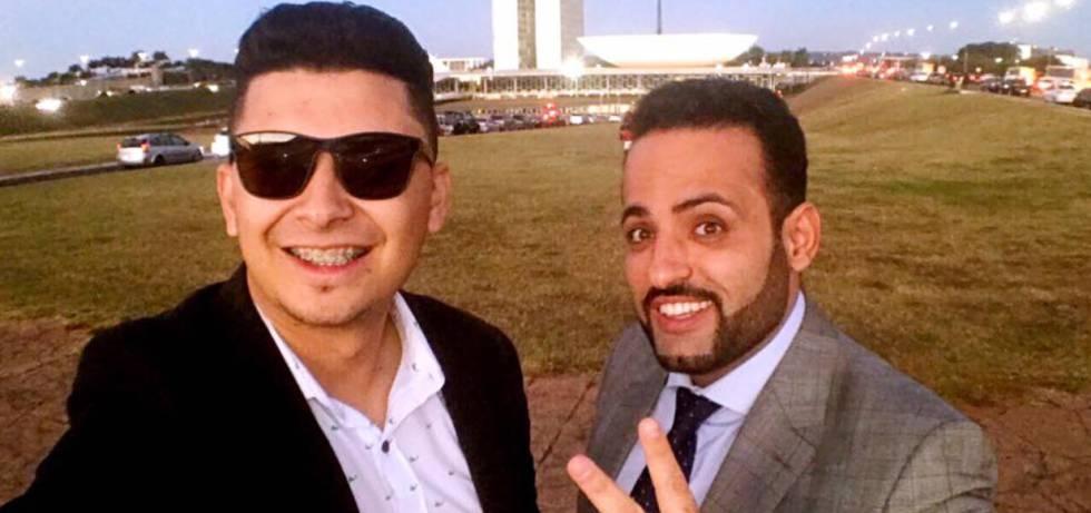 Renato Oliveira (esquerda), ao lado do prefeito Ney Santos, em visita a Brasília.