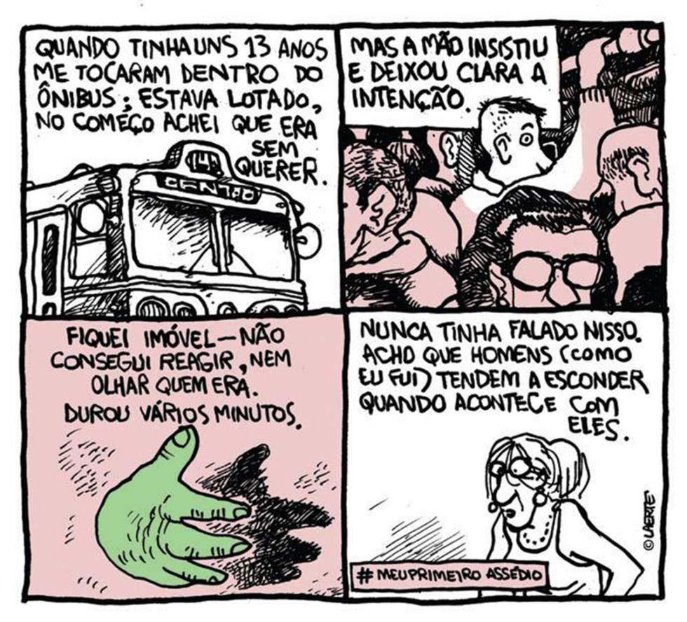 Cedida pela cartunista Laerte, a tirinha foi publicada primeiro na 'Folha de S. Paulo'