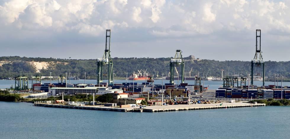 Zona de desenvolvimento especial no porto de Mariel, em Cuba.