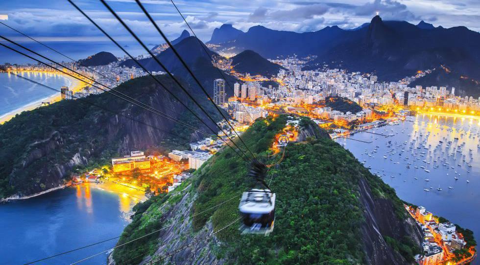 Vista do Pão de Açúcar, no Rio de Janeiro