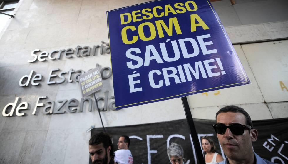 Protesto de Servidores no Rio, em abril.
