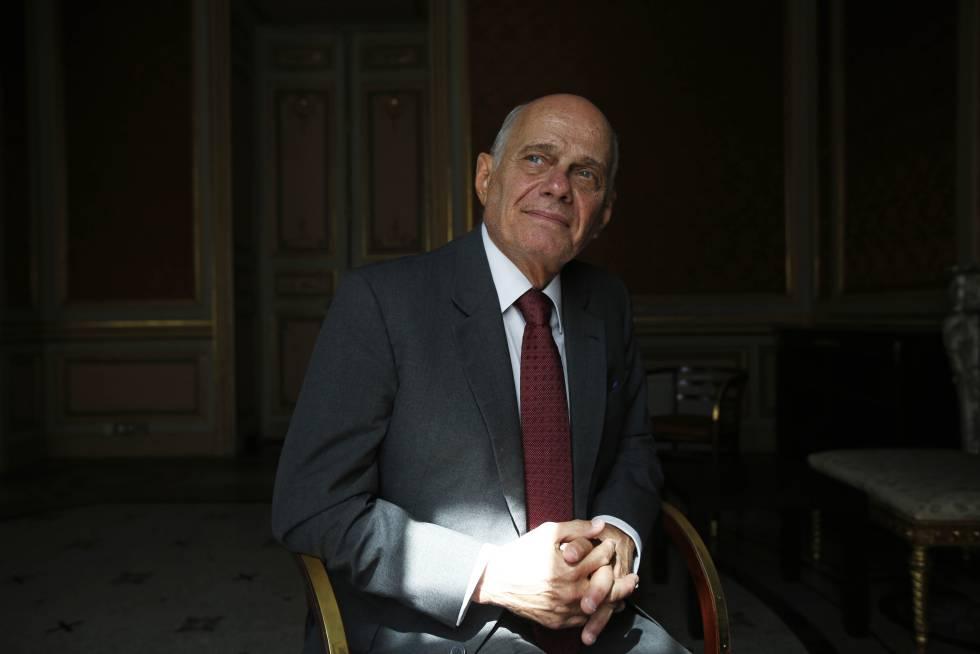 O jornalista Ricardo Boechat durante uima entrevista na Casa de América.