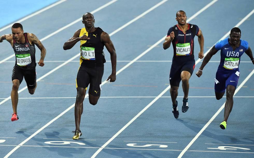 Bolt, no final dos 100m.