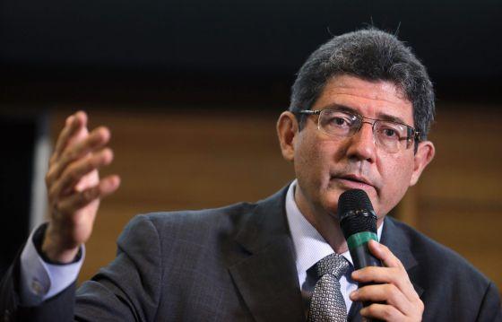 Joaquim Levy durante palestra em São Paulo.