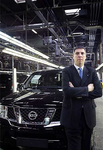 José Vicente de los Mozos, en la planta de Barcelona.