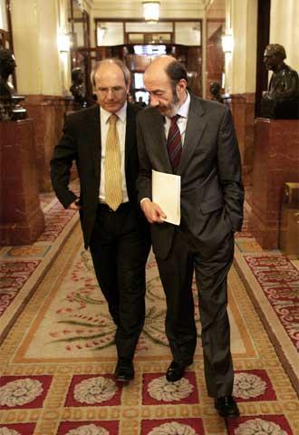 Durao Barroso y Tony Blair, tras una reunión en Downing Street.