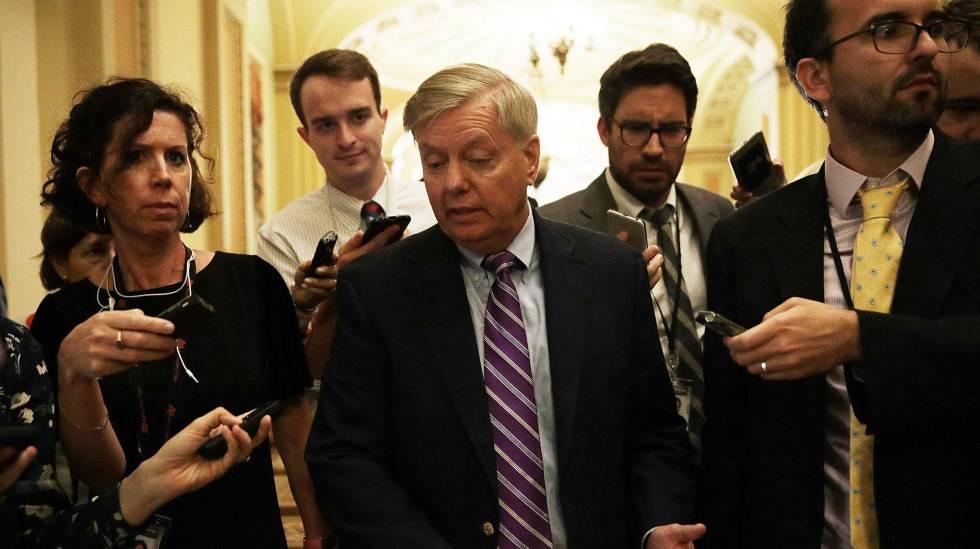 O senador Lindsey Graham, na semana passada, no Capitólio.
