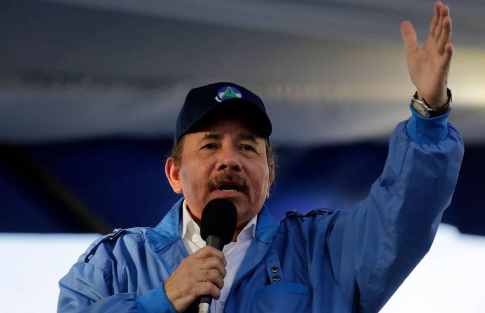 O presidente Ortega na quarta-feira passada.