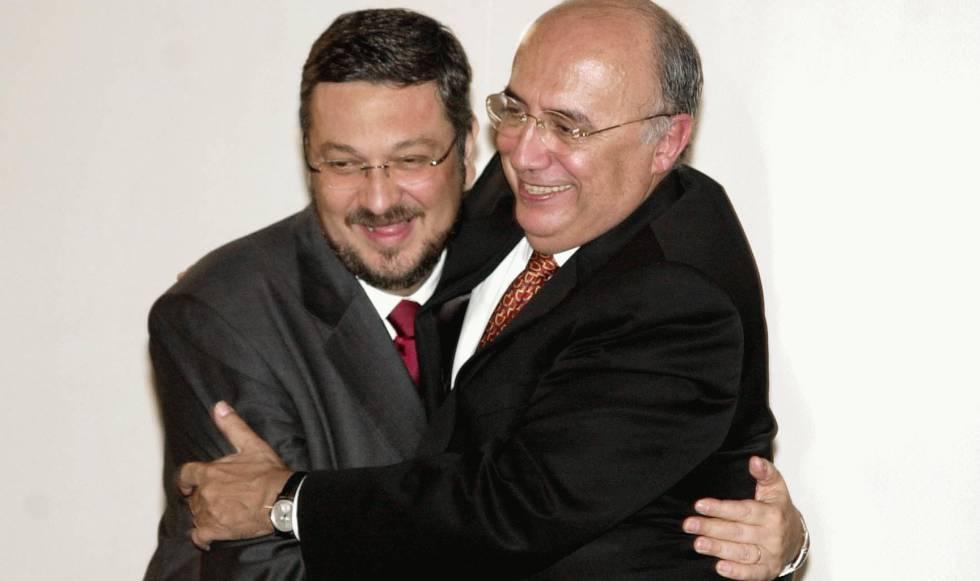 Palocci e Meirelles em 2003.