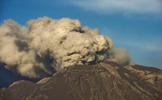 Vista do vulcão Calbuco, na sexta-feira, 24 de abril.