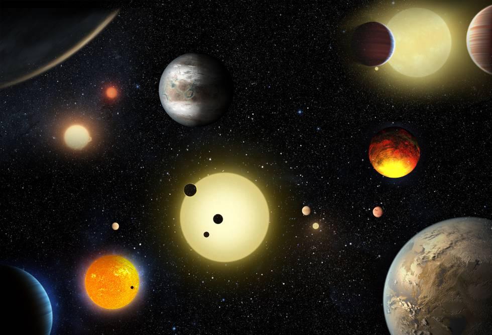 Imagem de exoplanetas fornecida pela NASA.