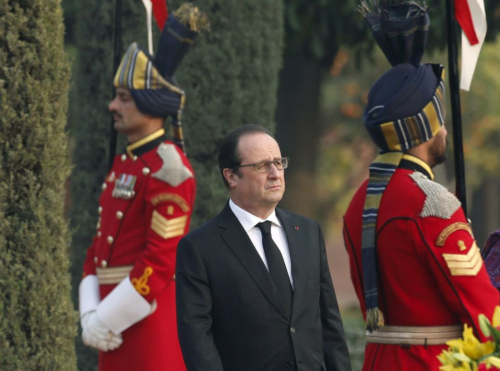 François Hollande, durante sua visita à Índia nesta semana.