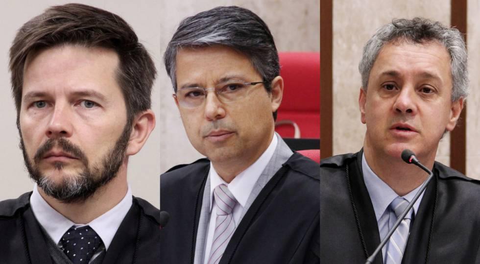 Leandro Paulsen, Victor Luiz dos Santos Laus e João Pedro Gebran Neto, do TRF-4.