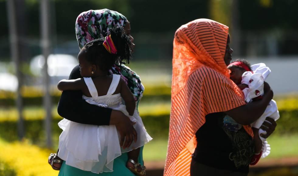 Encontro de imigrantes e refugiados em Brasília, em março.