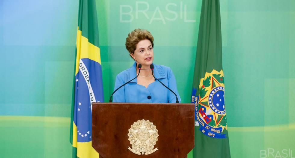 Dilma Rousseff, nesta segunda-feira em seu pronunciamento.
