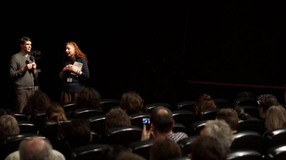 João Moreira Salles no debate do festival em Paris.