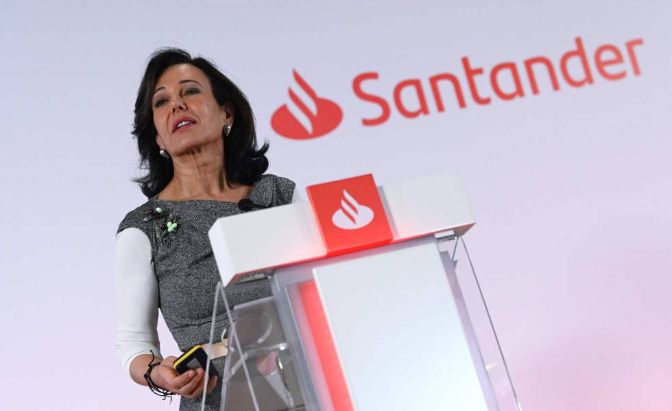 Ana Botín, presidenta do Santander, na inauguração da Conferência Bancária Internacional.
