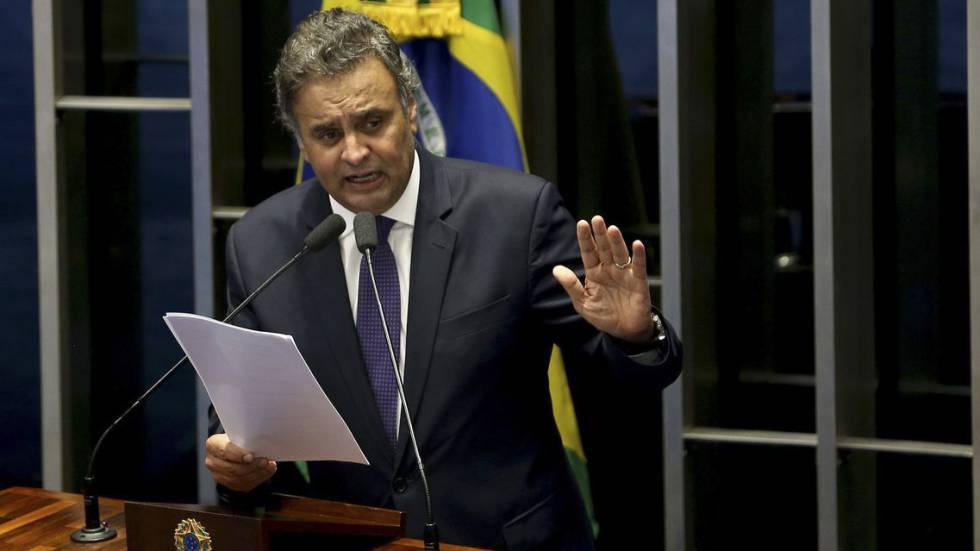 Aécio Neves se defende das acusações de ter recebido propina da Odebrecht, em dezembro de 2017