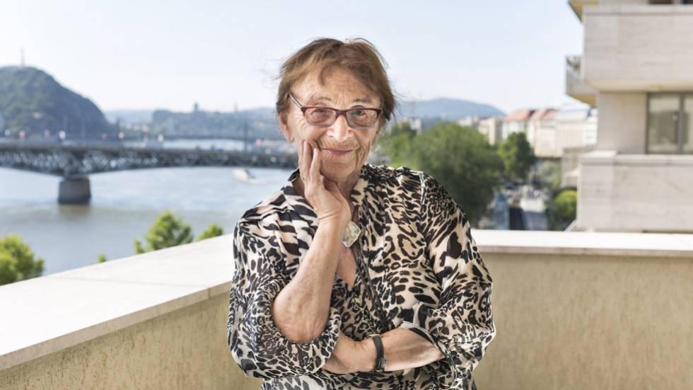 Ágnes Heller, em Budapeste em agosto de 2017.