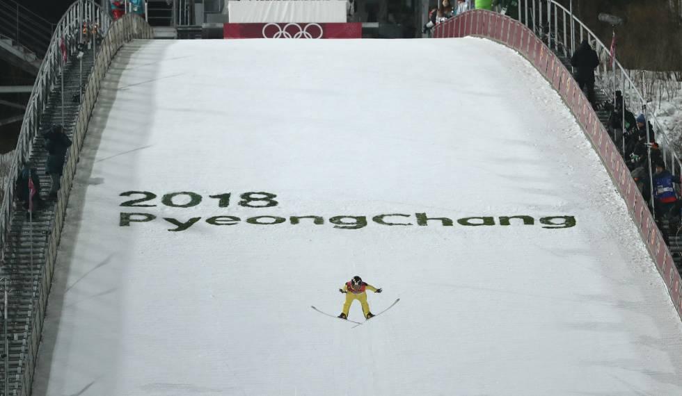 Imagem do primeiro dia de competições em Pyeongchang.