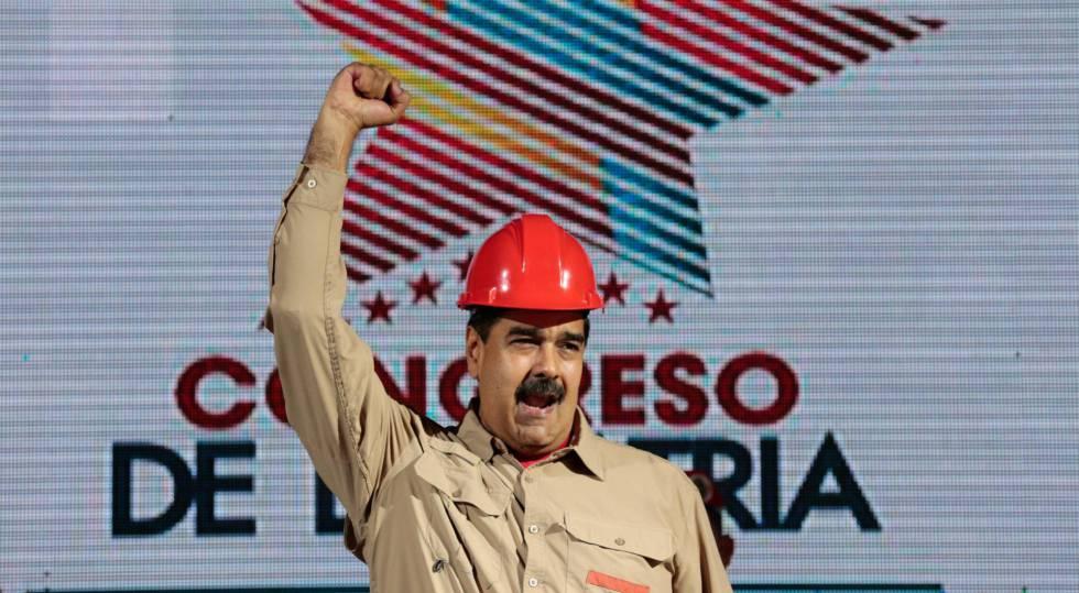 Nicolás Maduro, durante um ato na terça-feira em Caracas.